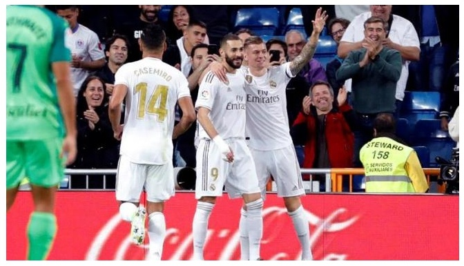 Real Madrid like each other and achieve a strong goal against Leganés